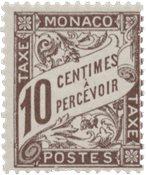Monaco - 1905/1909 - YT Taxe 4, neuf