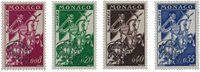 Monaco 1960 - YT PO19/22 - Neuf