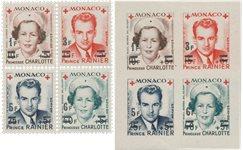 Monaco - 1951 - YT 379A/382B, neuf