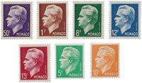 Monaco - 1950/1951 - Yvert 344/350, neuf