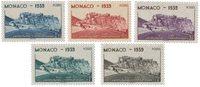 Monaco - 1939 - YT 195/199, neuf