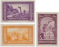 Monaco - 1933/1937 - YT 130/132, neuf