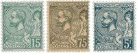 Monaco - 1920/1921 - YT 44/45 + 47, neuf