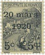 Monaco - 1920 - Yvert 37, neuf avec charnière