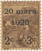 Monaco 1920 - YT 36 - Ubrugt