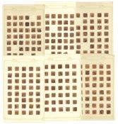 Danmark - Lot med AFA 7 stemplet 4 skilling brun