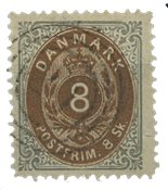 Danmark - AFA 19 stemplet, kvalitet 2