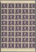Sverige - AFA 204 ubrugt i blok med 40 frimærker