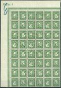 Danmark - AFA 132-135 postfrisk i 48-blok