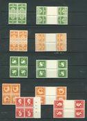Danmark - Tête-bêche AFA 1-10 postfrisk