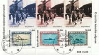75th year jubilee of the American Issue - Date cancellation - Souvenir sheet