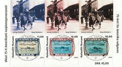 75-året for Amerika-udgaven - Centralt dagstemplet - Miniark
