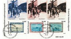 75-året for Amerika-udgaven - Førstedagsstemplet - Miniark