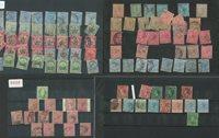 Britiske Kolonier - Postfrisk og stemplet på 20 indstikskort
