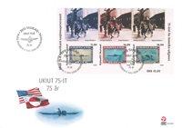 Grønland - 75 året for Amerikaner-udgaven - Førstedagskuvert med miniark