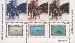 Groenland - 75th jubilee of the American Issue - Postfris souvenirvelletje