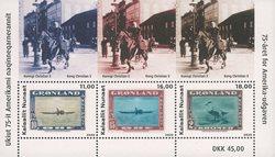 Groenlandia - 75 aniv. de la emisión americana - Hoja bloque nuevo