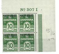 Danmark - AFA 5 ubrugt postfærge marginalblok 307I