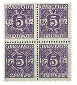 Danmark - AFA 16 ubrugt porto 4-blok 1919-20