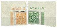 Danmark - AFA 9+12 ubrugt marginalnr. 313Z + nr. 233Y