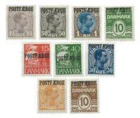 Danmark - Postfærge blandet lot med 9 ubrugte frimærker