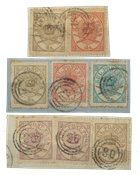 Danmark - AFA 11-14 stemplet på brevklip