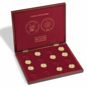Møntkassette til 16 tyske 100-Euro guldmønter *UNESCO Welterbe*