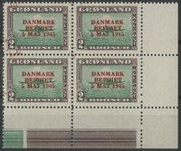 Grønland - AFA 24 postfrisk 4-blok