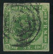 Danmark 1858-62 - AFA 8 - Stemplet