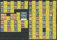Danmark - Postfærge blandet lot med 58 enkeltmærker og 3 4-blokke