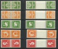 Danmark - AFA 1-10 postfrisk tête-bêche
