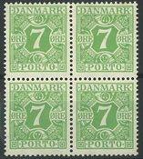 Danemark - AFA 17 taxe, bloc de 4 neuf