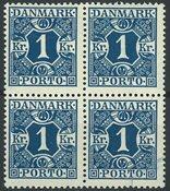 Danemark - AFA 15 taxe bloc de 4 neuf sans ch.