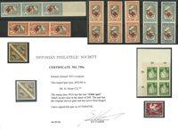 Estonia - Collezione nuovi su cartoncini, 1 emissione con certificato