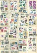Østrig - Tyk indstiksbog med postfriske og stemplede frimærker