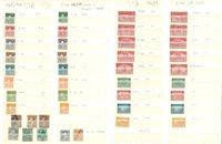 USA - Samling fra 1912-13, på 2 indstikskort