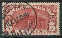 Danemark - 5 kr. Bâtiment de la poste centrale