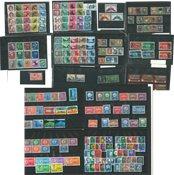 Schweiz - Postfriske og stemplede frimærker og miniark på indstikskort