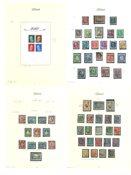 Estland - Postfriske og stemplede frimærker på løse albumblade