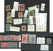 Italien - Postfrisk og stemplet på 3 indstikskort