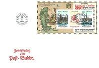 Denemarken - Europa 2020 Oude Postroutes - FDC met souvenirvelletje