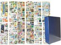 Oversø - Frimærkesamling i skruebind med kassette - 4087 frimærker