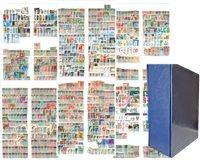 Europe de l'Ouest - Coll. en relicure à vis avec étu de prot. -8402 timbres - 8402 timbres