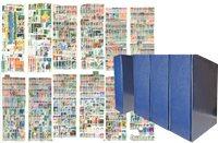 Offre globale - 4 reliures à vis avec étui de protection - 27.129 timbres - 27.129 timbres
