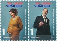 Holland - 75-året for befrielsen - Postfrisk sæt 2v