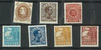 Danemark - Petit lot 7 timbres
