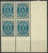 Danemark - AFA 23C bloc de 4 avec 3 timbres neufs sans ch. et 1 avec ch.