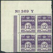 Danemark - AFA 168 neuf sans ch. bloc de 4 avec no  marginal