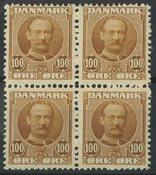 Danmark - AFA 59, 2 postfriske og 2 ubrugte