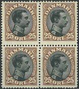 Danmark - AFA 101 postfrisk i 4-blok